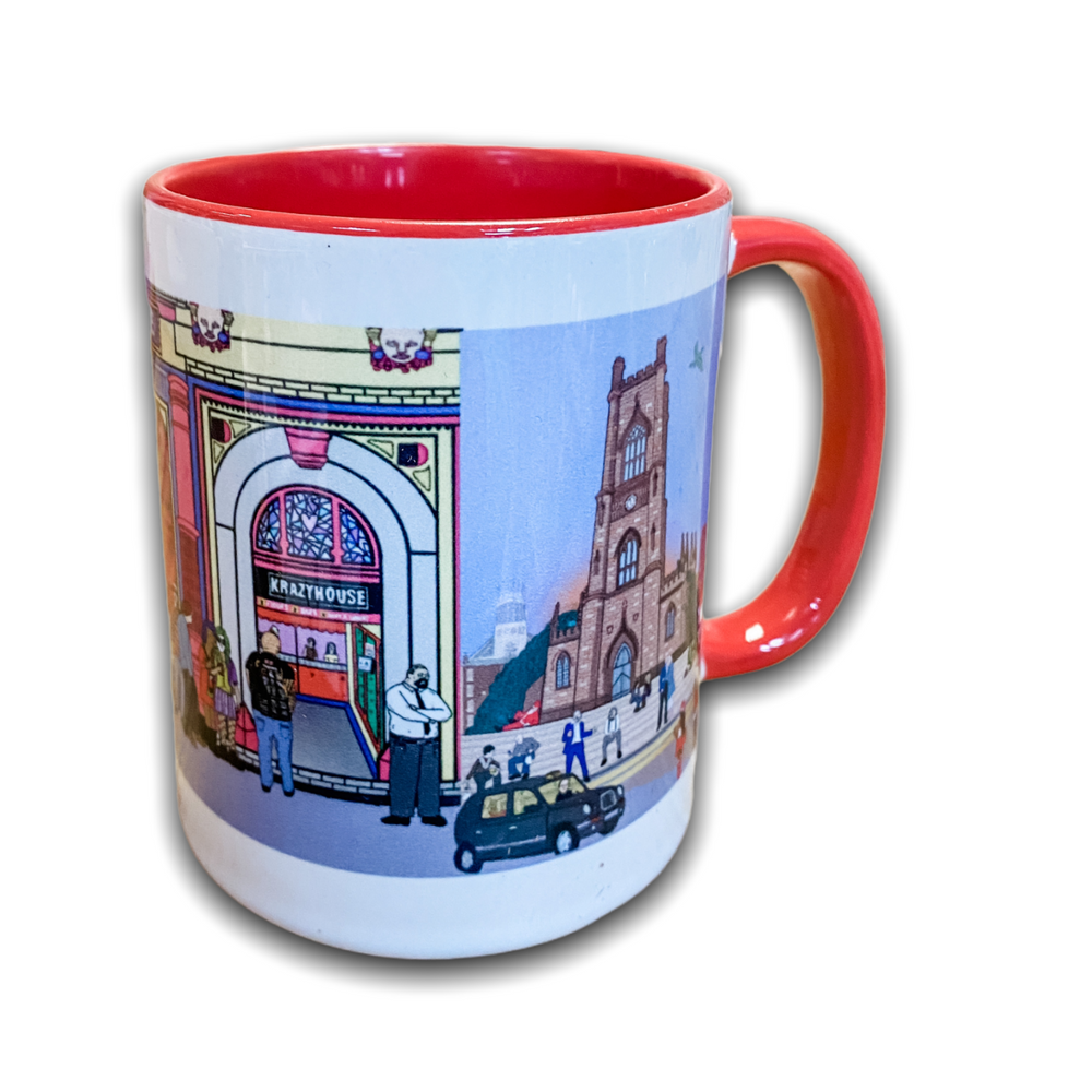 Liverpool Nightlife Mug - Krazyhouse, Lobster Pot, Bombed Out Church