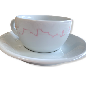 Scouse Bird Skyline Cup and Saucer