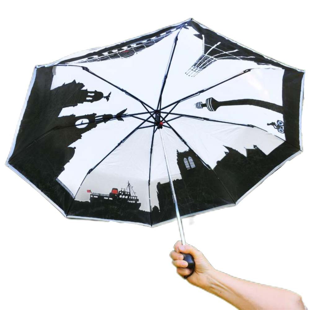 Load image into Gallery viewer, Fold Away Liverpool Skyline Umbrella