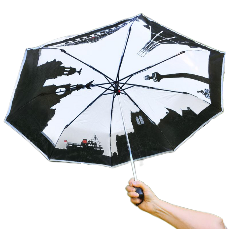 Fold Away Liverpool Skyline Umbrella