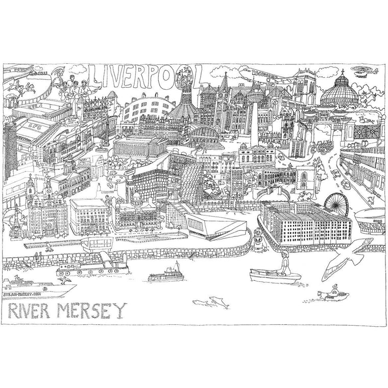 Giant Scouse Colouring Map of Liverpool