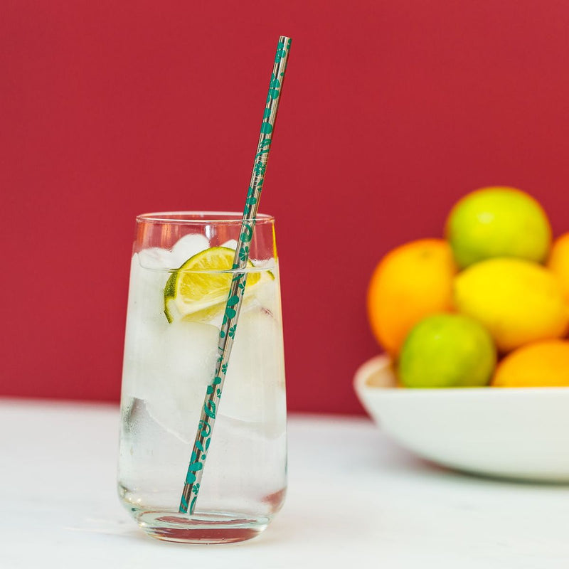 Stainless Steel Floral Straws