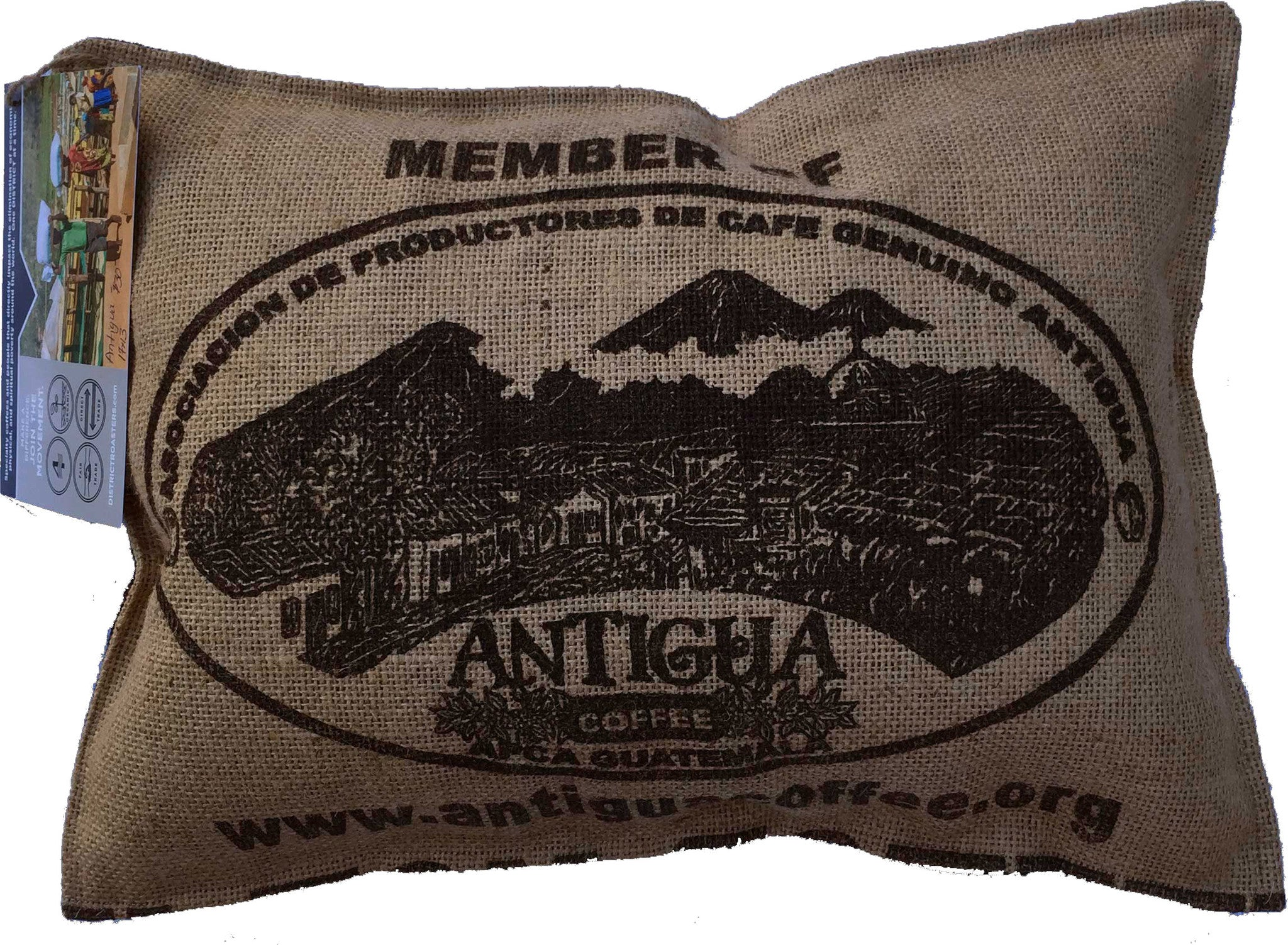 Coffee Bag Pillow - Antigua (small)