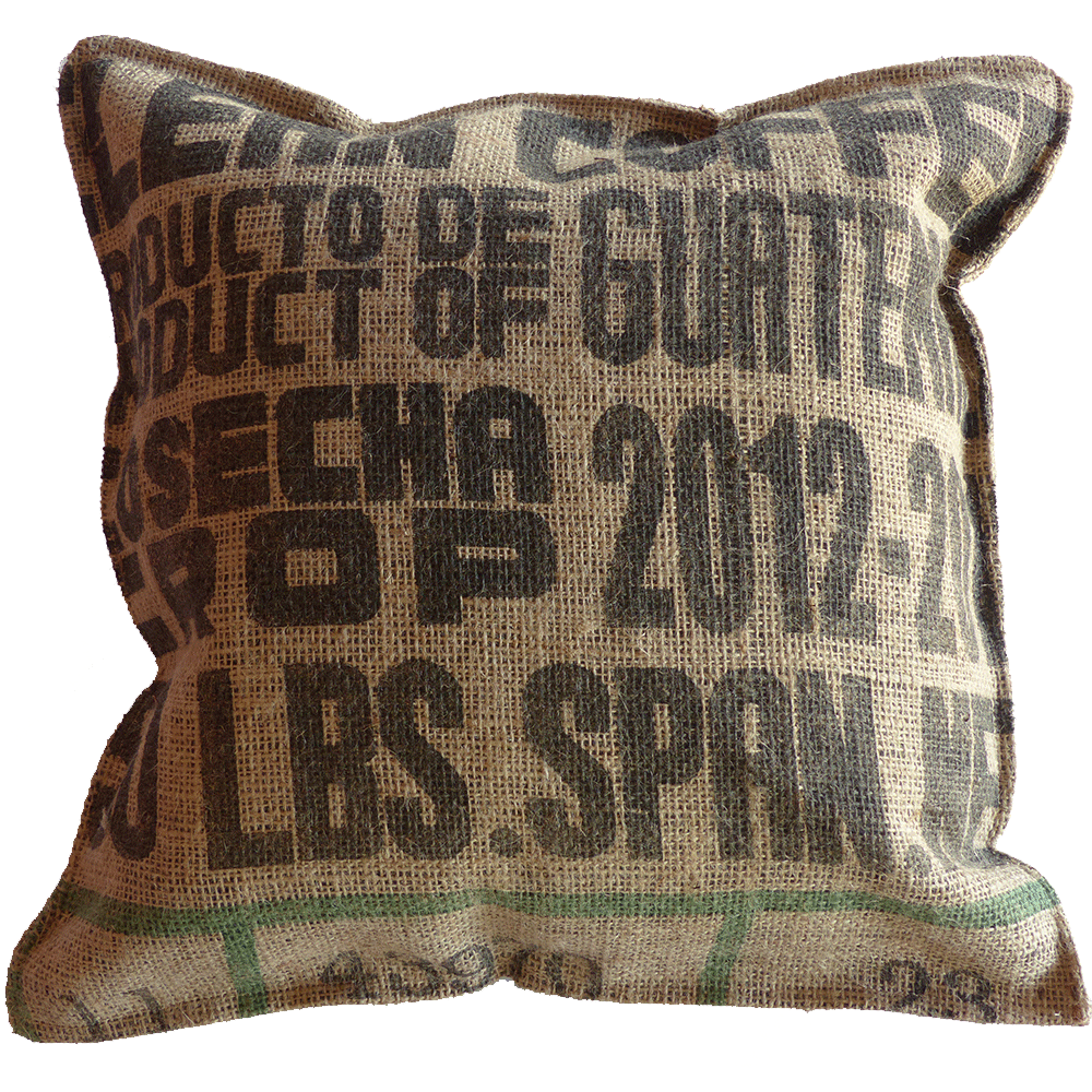 Coffee Bag Pillow - Guatemala