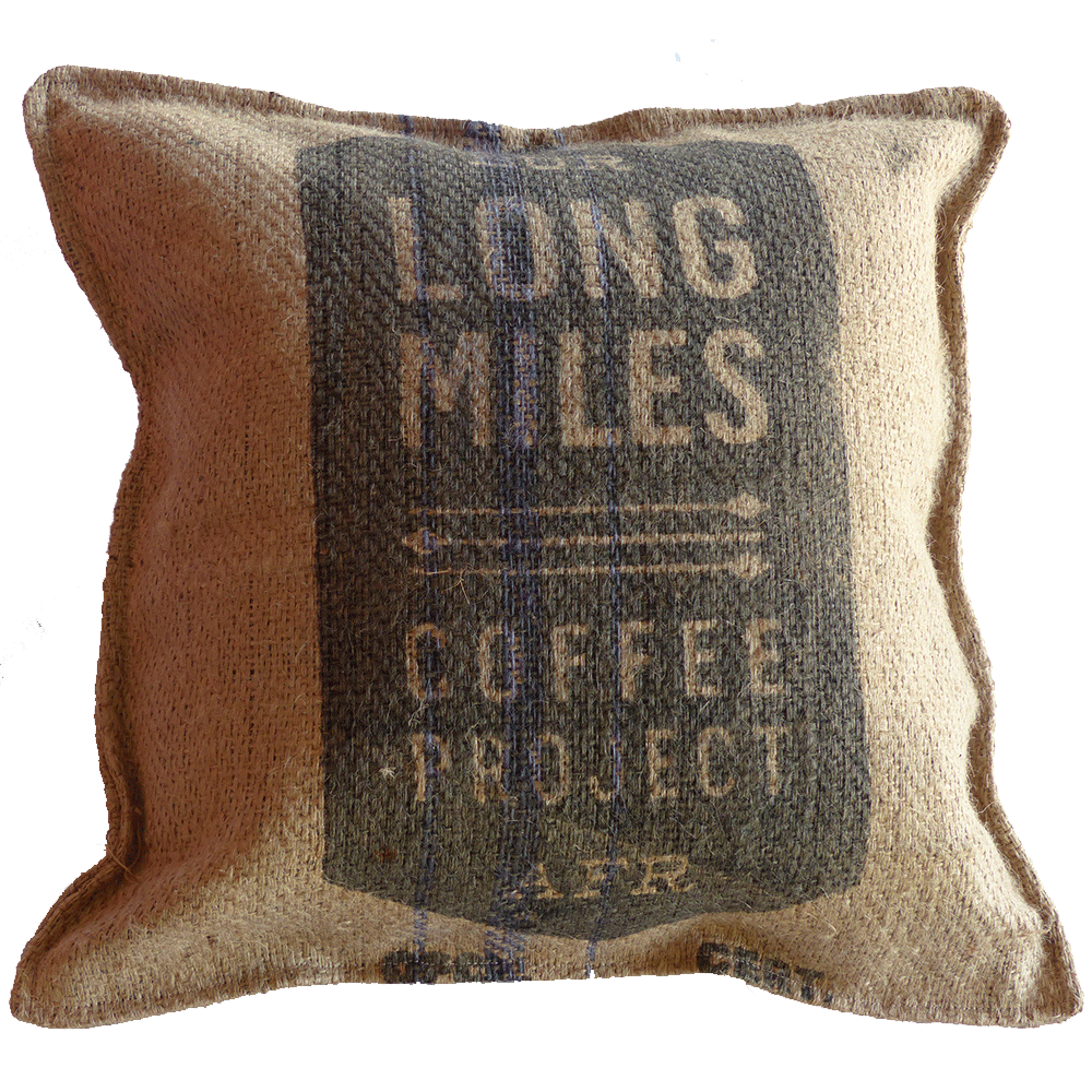 Coffee Bag Pillow - Long Miles