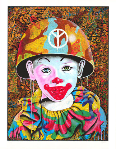 Clown Camo Boy by Ron English