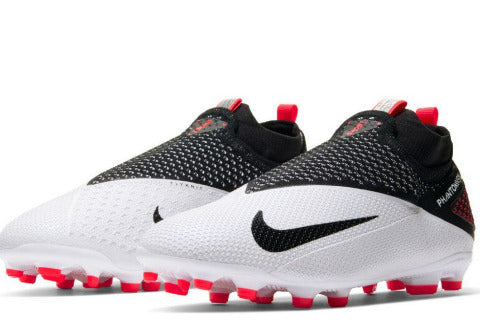 NIKE JR PHANTOM VSN 2 ELITE DF FG/MG - WHITE/BLACK-LASER CRIMSON