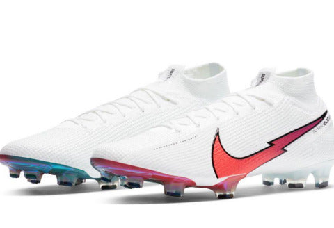 NIKE MERCURIAL SUPERFLY 7 ELITE FG - WHITE/ FLASH CRIMSON - HYPER JADE