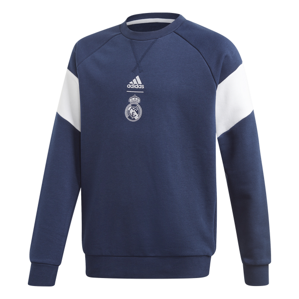 Adidas Real Madrid Youth Sweater 2019/20 - Navy