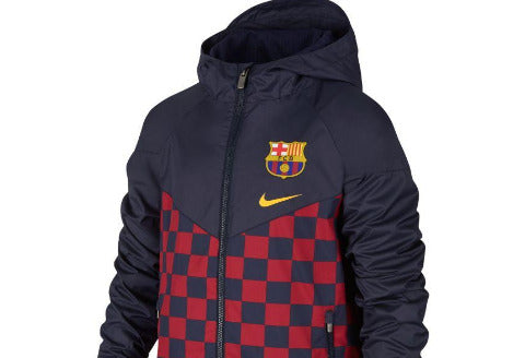 NIKE BARCELONA YOUTH WIND BREAKER JACKET - NAVY BLUE/MAROON