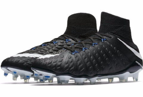 Nike Hypervenom Phantom III DF FG - Black/ White Game Royal