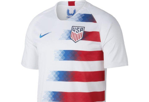 Nike USA Home Jersey 2018 - White/ Speed Red/ Blue Nebula