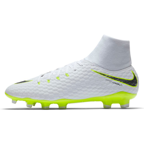 Nike Hypervenom Phantom 3 Academy DF FG - White/ Metallic Cool Grey/ Volt