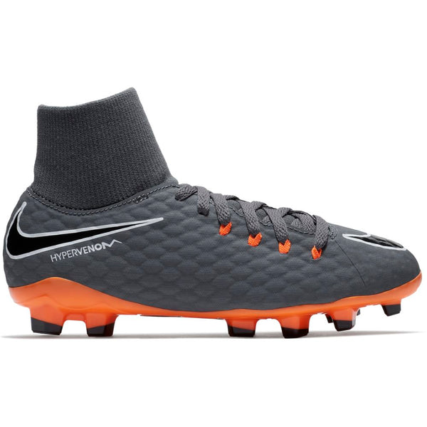 Nike Jr Phantom 3 Academy DF FG - Dark Grey/ Total Orange/ White