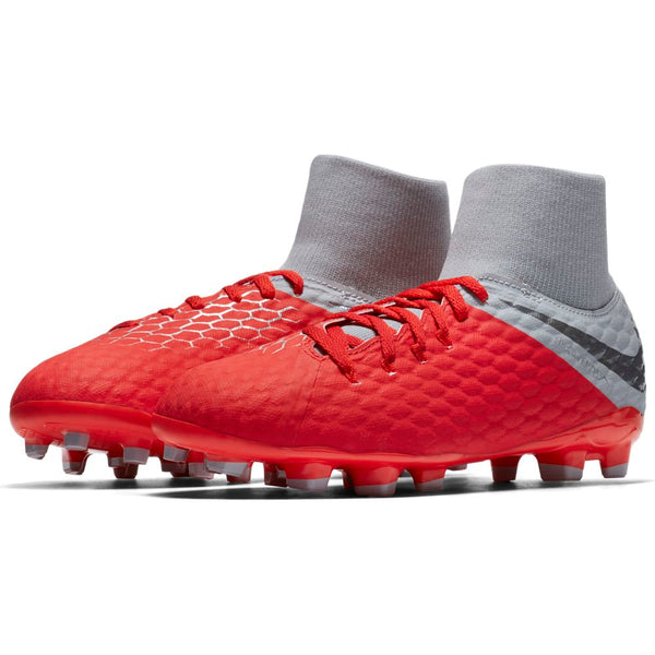 Nike Jr Hypervenom Phantom 3 Academy DF FG - Red/Grey