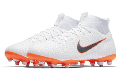 Nike Mercurial Jr Superfly 6 Academy GS MG - White/ Metallic Cool Grey/ Total Orange