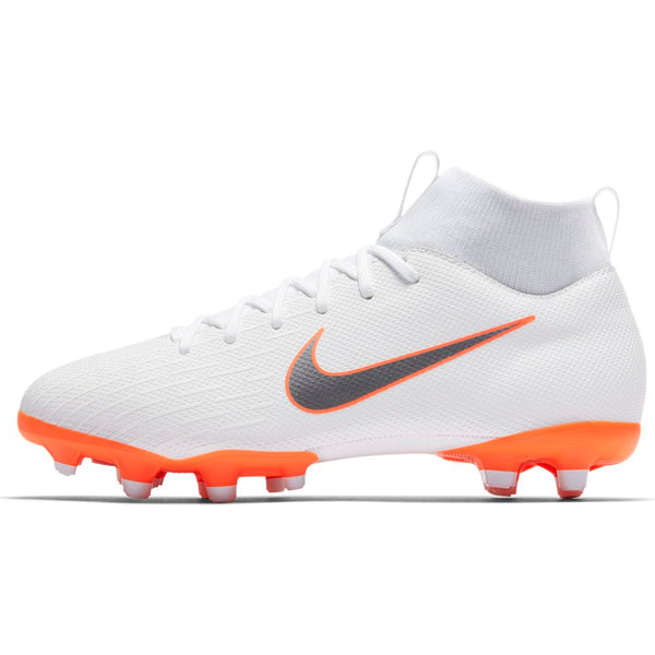 Nike Mercurial Jr Superfly 6 Academy GS MG - White/Grey/Orange
