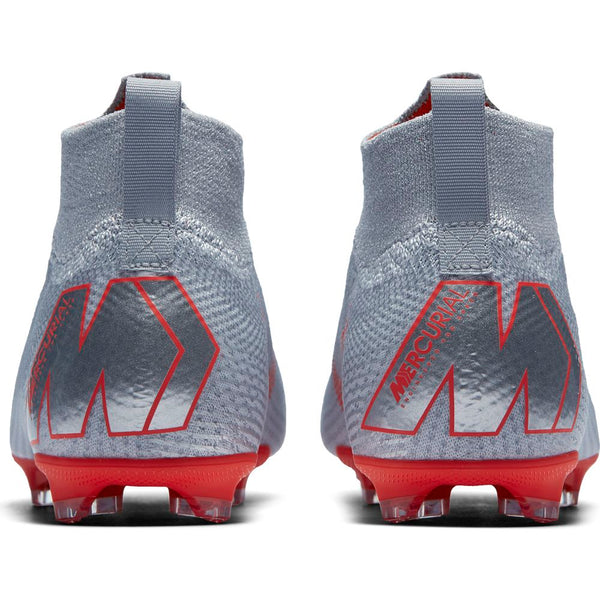 Nike Jr Mercurial Superfly 6 Elite FG - Wolf Grey/ Light Crimson/ Pure Platinum
