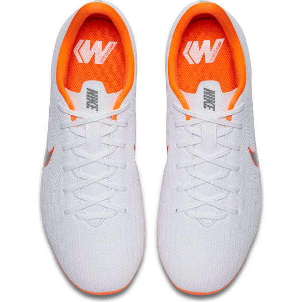 Nike Mercurial Jr Vapor Academy GS MG - White/ Metallic Cool Grey/ Total Orange