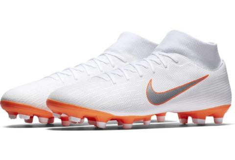 Nike Mercurial Superfly 6 Academy MG - White/ Metallic Cool Grey/ Total Orange