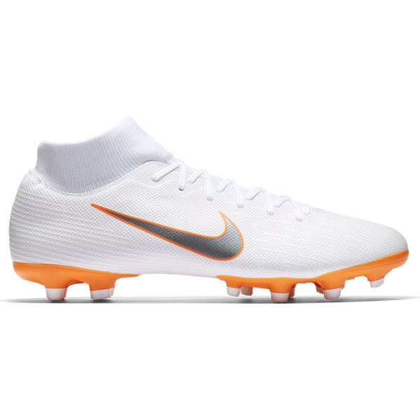 Nike Mercurial Superfly 6 Academy FG/MG - White/ Metallic Cool Grey/ Total Orange