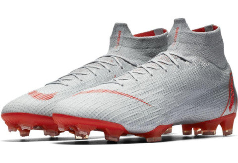 Nike Mercurial Superfly 6 Elite FG - Wolf Grey/ Light Crimson/ Pure Platinum