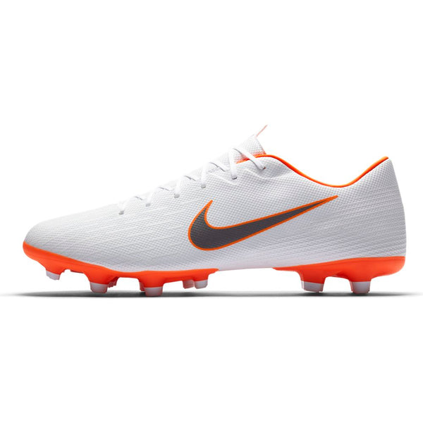 Nike Mercurial Vapor 12 Academy MG - White/ Metallic Cool Grey/ Total Orange