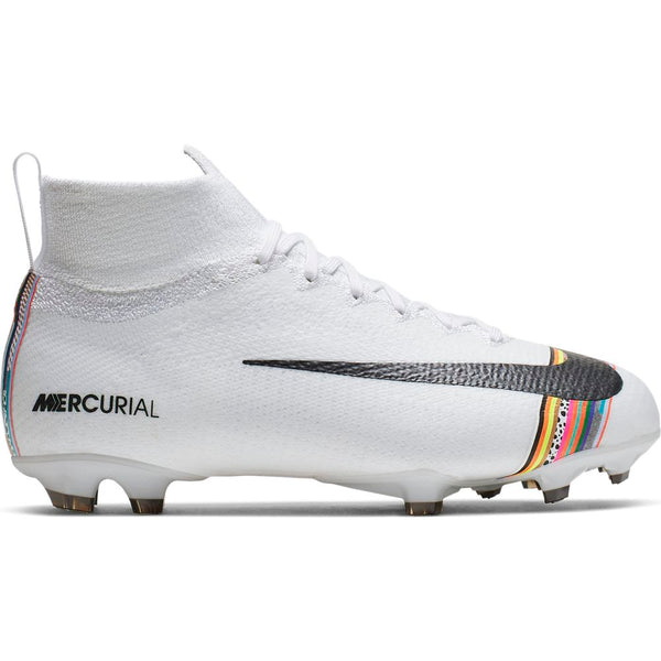 Nike Jr Superfly 6 Elite FG - White/Black