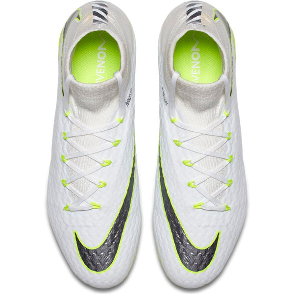 Nike Hypervenom Phantom 3 Pro DF FG - White/ Metallic Cool Grey/ Volt