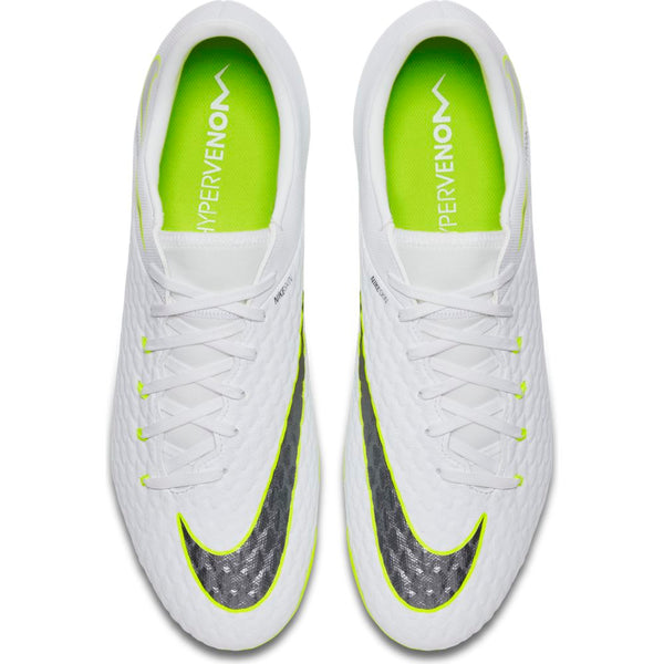 Nike Hypervenom Phantom 3 Academy FG - White/ Metallic Cool Grey/ Volt