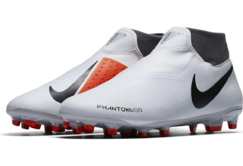 Nike Phantom Vision Academy DF FG/MG - Pure Platinum/ Black/ Light Crimson/ Dark Grey