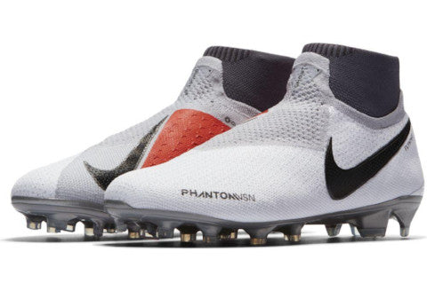 Nike Jr Phantom Vision Elite DF FG/MG - Pure Platinum/ Black/ Light Crimson/ Dark Grey
