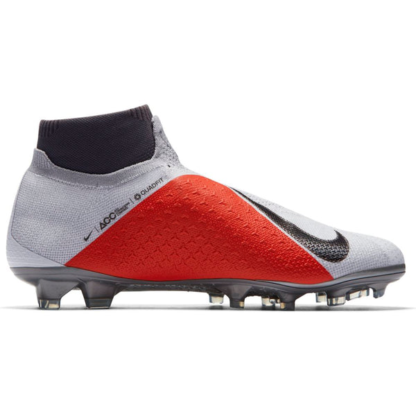 Nike Phantom Vision Elite DF FG - Pure Platinum/ Black/ Light Crimson/ Dark Grey