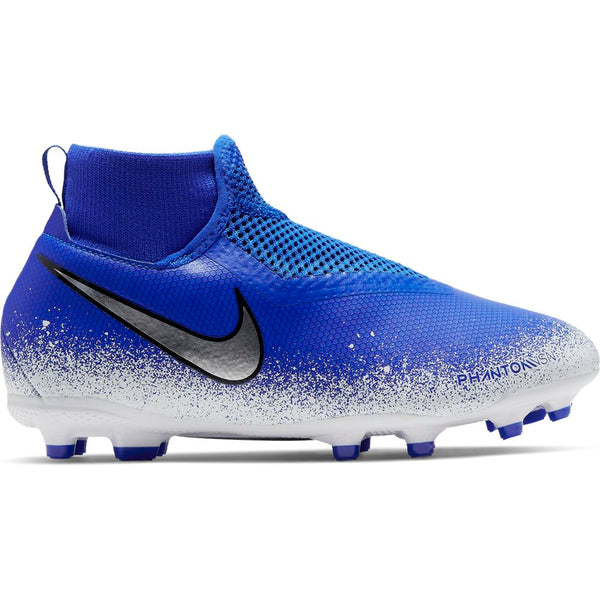 Nike Jr Phantom VSN Academy DF FG/MG - Racer Blue/ Chrome/ White