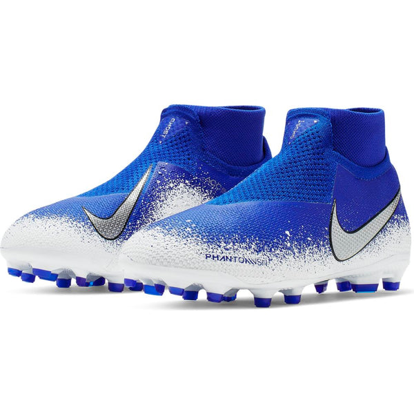 Nike Jr Phantom VSN Elite DF FG/MG - Racer Blue/ Chrome/ White