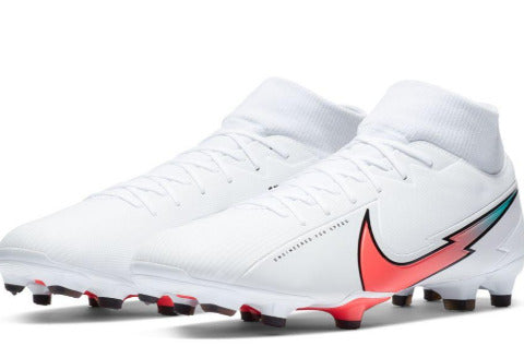 NIKE MERCURIAL SUPERFLY 7 ACADEMY FG/MG - White/Flash Crimson/Photon Dust