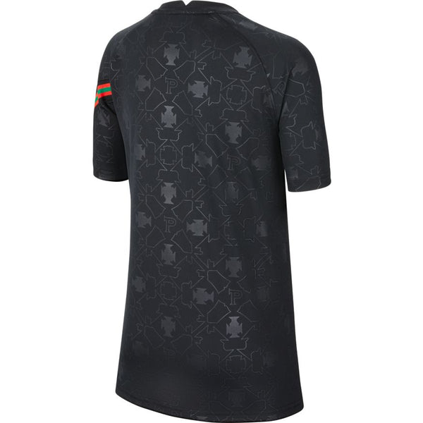 NIKE Portugal Youth Pre Match Top - Black