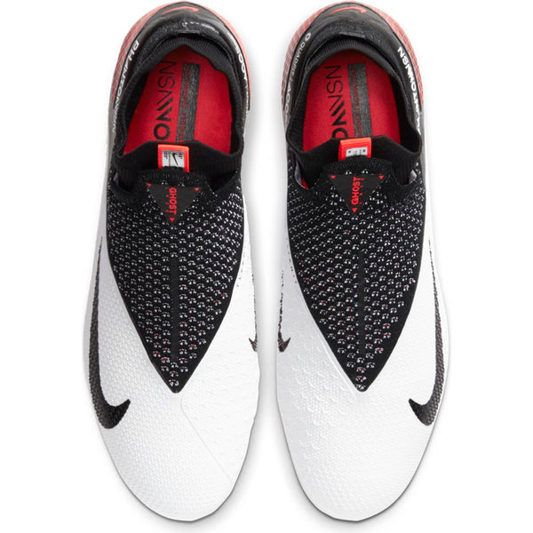 NIKE PHANTOM VSN 2 ELITE DF FG - WHITE/BLACK-LASER CRIMSON