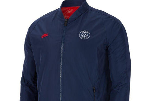 NIKE PSG REVERSABLE JACKET - NAVY BLUE/RED