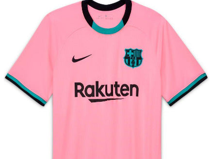 NIKE BARCELONA MENS 20/21 3RD JERSEY PINK