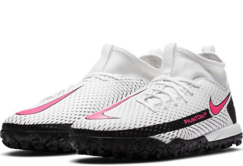 Nike Jr. Phantom GT Academy Dynamic Fit TF-WHITE/PINK BLAST-BLACK