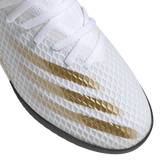 adidas X Ghosted 20.3 Turf J- White/Black/Gold