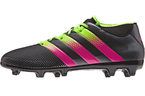 adidas ace 16.3 primemesh black solar green pink side