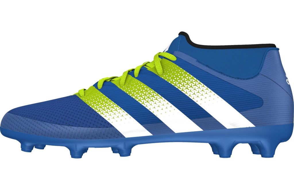 pretty nice dfac7 41b7d ... adidas ace 16.3 primemesh fg ag shock blue green white side ...