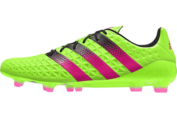adidas ace 16.1 fg ag solar green pink black side