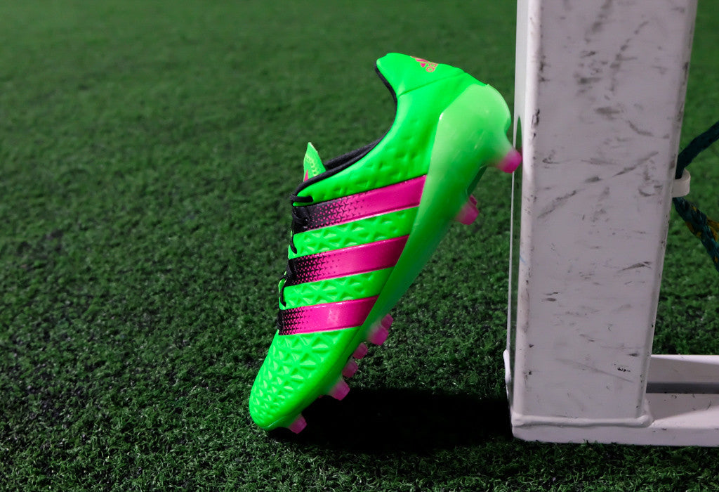 separation shoes d7671 49f88 Adidas Ace 16.1 FG AG - Solar Green  Pink  Black   East Coast Soccer Shop