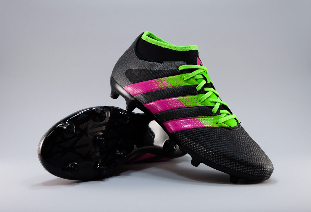 buy popular 7582e 35ad6 Adidas Ace 16.3 Primemesh FG/AG - Black/ Solar Green/ Pink