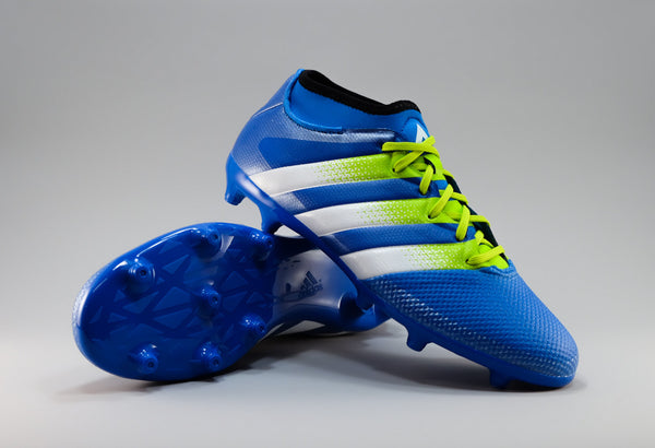 adidas ace 16.3 primemesh fg ag shock blue green white