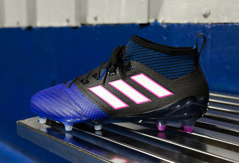adidas ace 17.1 primeknit fg blue black white