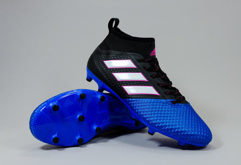 adidas ace 17.3 primemesh fg black white blue